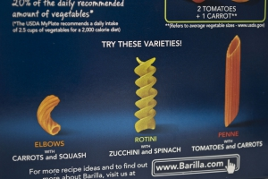 This is a picture of the other shapes/flavors that Barilla Veggie pasta comes in.