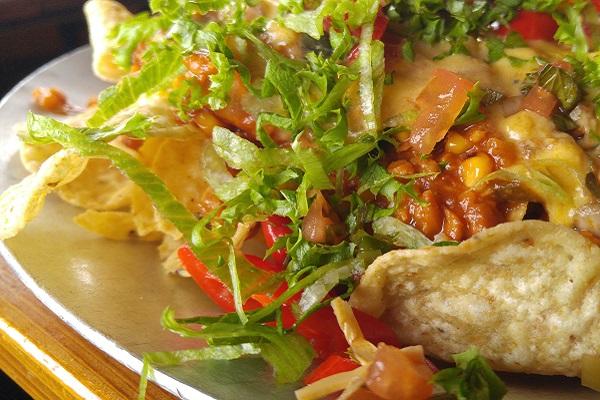 Vegan BBQ Nachos from BBD's in Rocky Point, NY.
