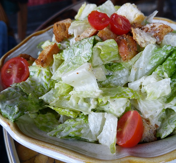 The Veganized Caesar Salad from The Witches Brew in West Hempstead, NY.