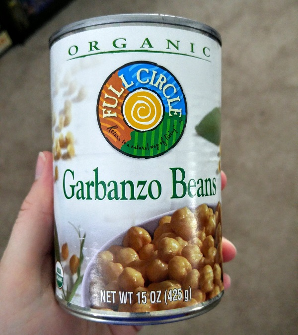 The garbanzo beans we used in the recipe.