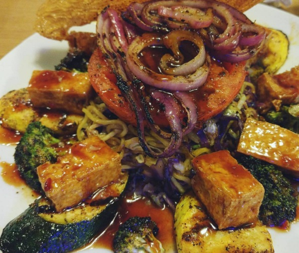 Tofu Vegetable Platter from Trail's End Restaurant at The Campsites at Disney's Fort Wilderness Resort.