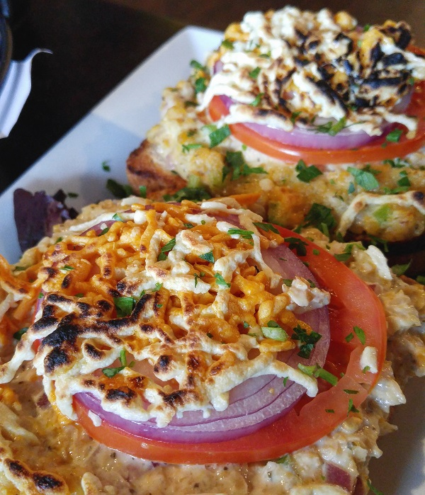 "The Chickpea ""Tuna"" Melt from The Purple Elephant in Northport, NY."