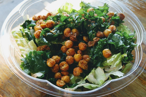 The Caesar Salad with Roasted Chickpeas from Batata Cafe, NY.